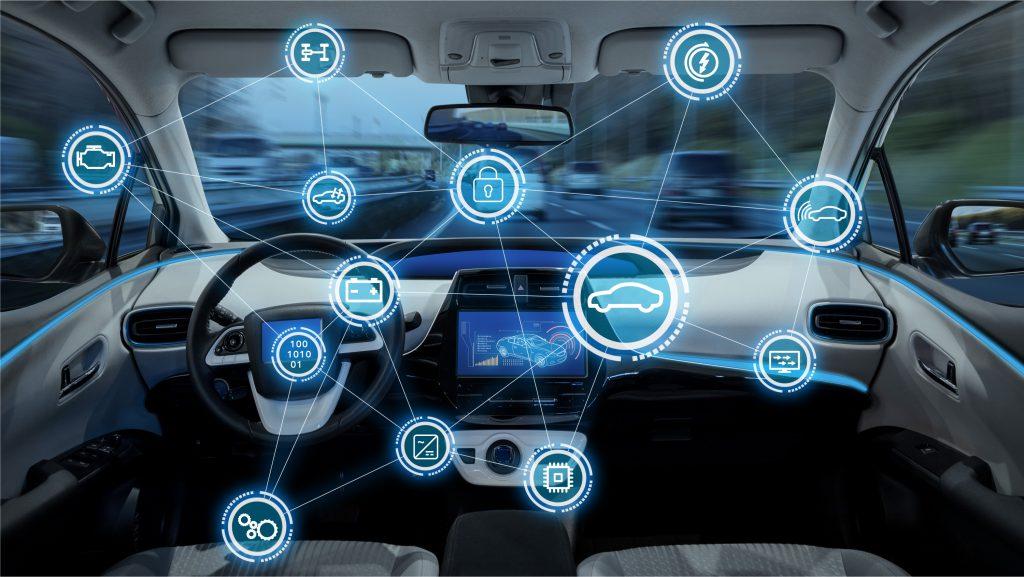 Abstrakte Darstellung Connected Auto