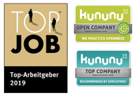 Logos Top-Job 2019 und Kununu Open Company/ Top Company