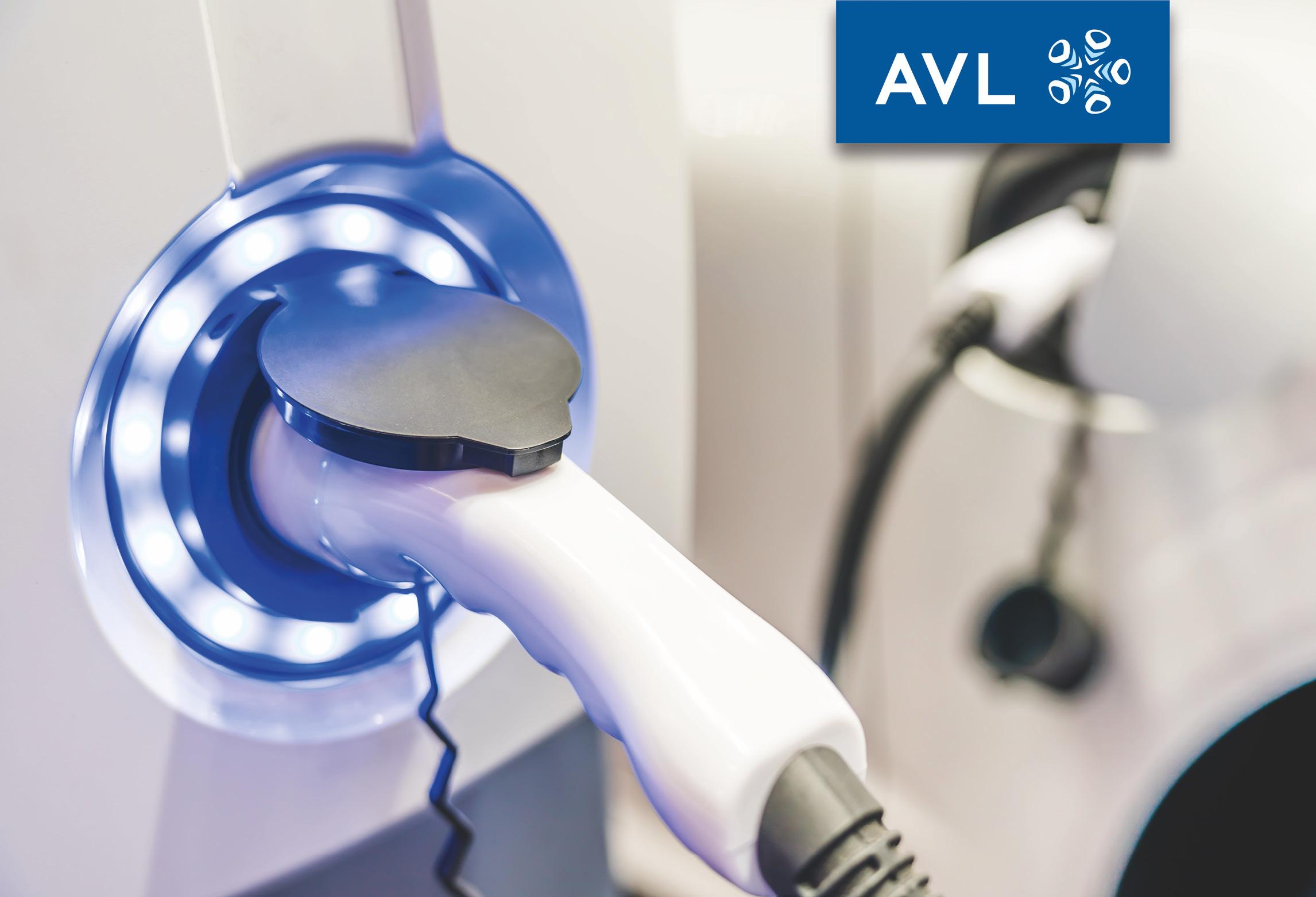 Nahaufnahme elektrische Ladesäule AVL