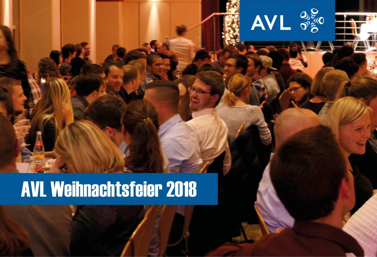 Mitarbeiter AVL Weihnachtsfeier 2018