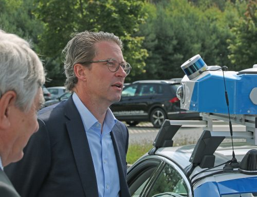 Visit by Federal Minister of Transport Scheuer at our location in Roding